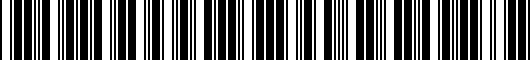 Barcode for 2SF14AC5009P