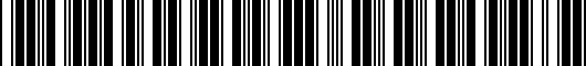 Barcode for 2SH15AC0009P