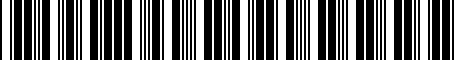 Barcode for 2435025000