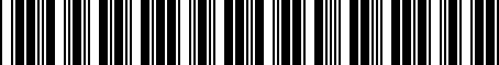 Barcode for 2441025001