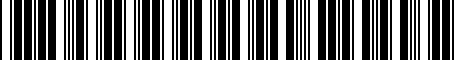 Barcode for 3111226055