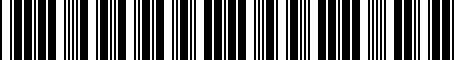 Barcode for 3922038030
