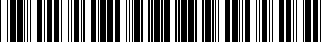 Barcode for 4143128020