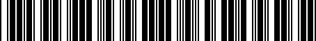 Barcode for 813103K020