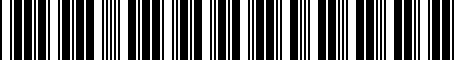 Barcode for 834122H000