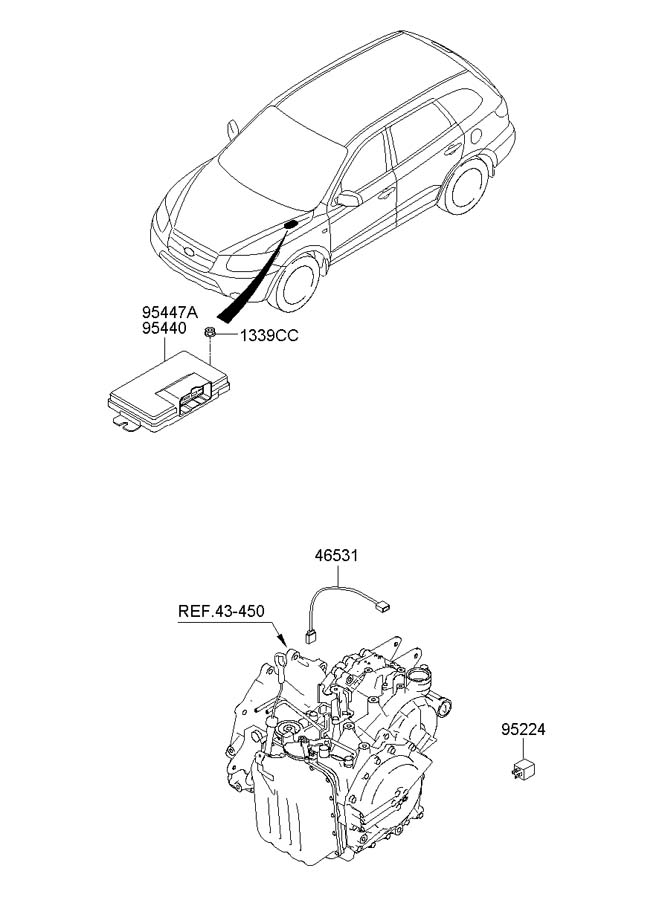 952242d000 - Hyundai Relay Assembly