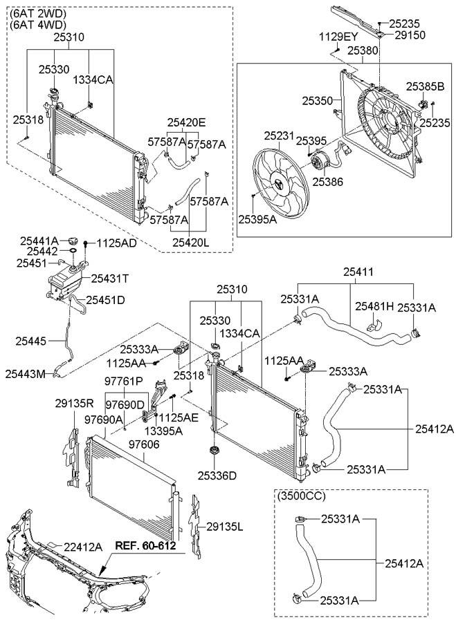 2003 hyundai santa fe radiator diagram html