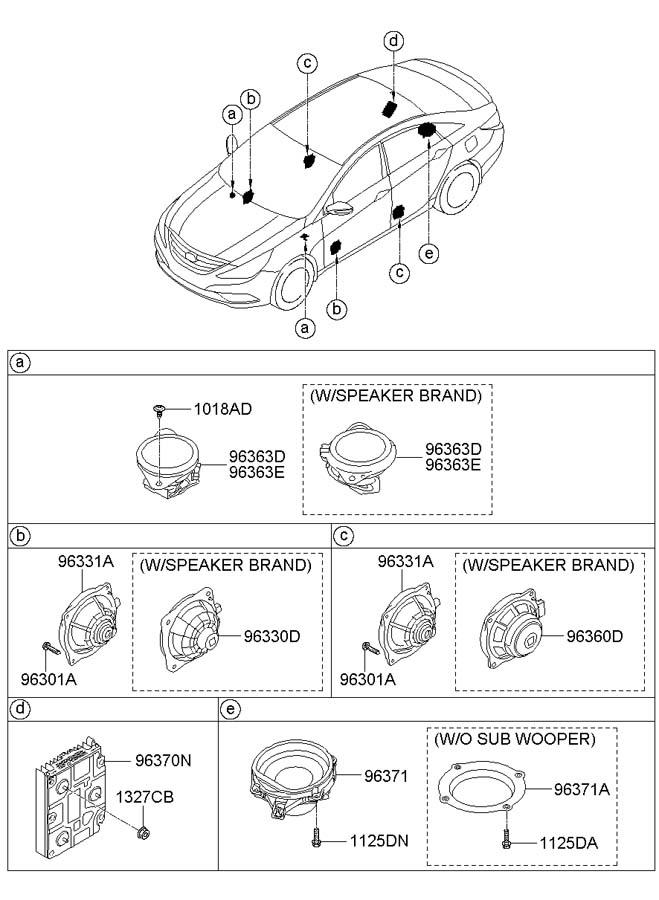 2013 Hyundai Sonata Speaker Assembly