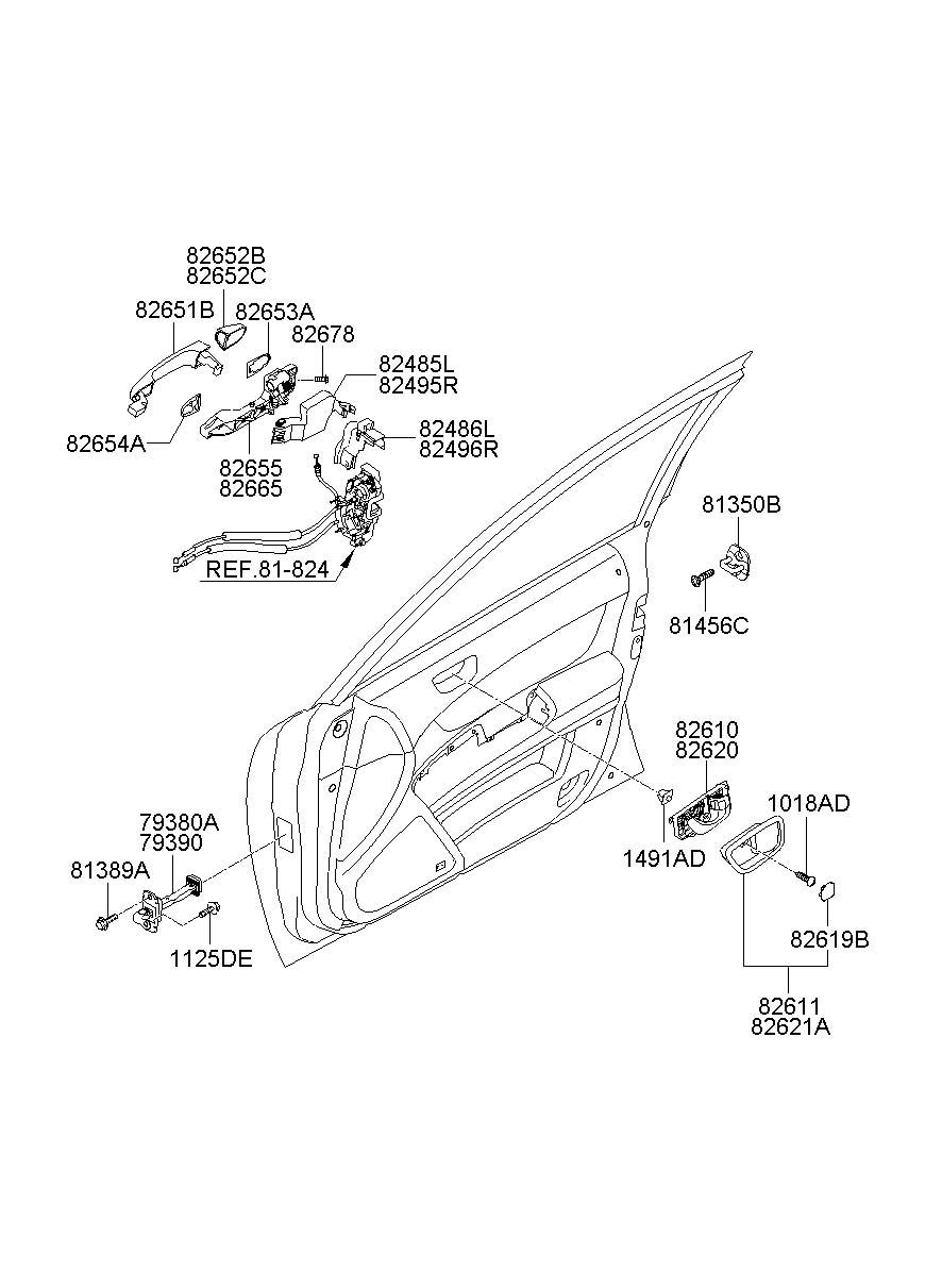 Hyundai Sonata Handle Assembly - Door Outside