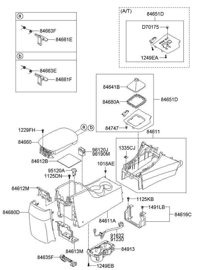 2009 hyundai sonata latch armrest lower ipod usb cdc. Black Bedroom Furniture Sets. Home Design Ideas