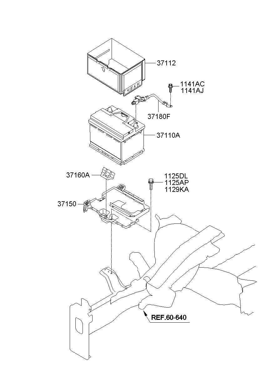 2012 Hyundai Elantra Sensor Assembly - Battery  Micom  Ams