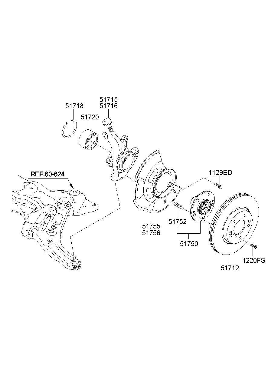 2013 hyundai elantra knuckle - front axle left   left hand    veloster