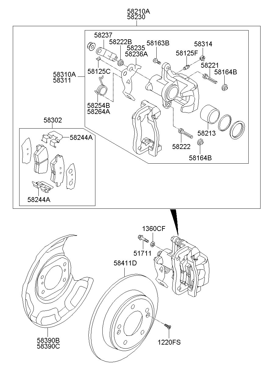 hyundai brakes diagram