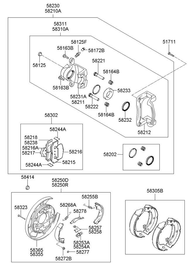 2006 Hyundai Sonata Plate Assembly Rear   Rear  Rr