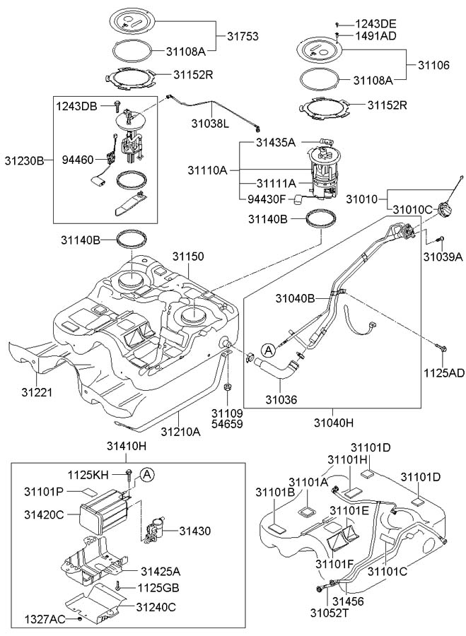 Hyundai Santa Fe Sender Assembly - Fuel Pump