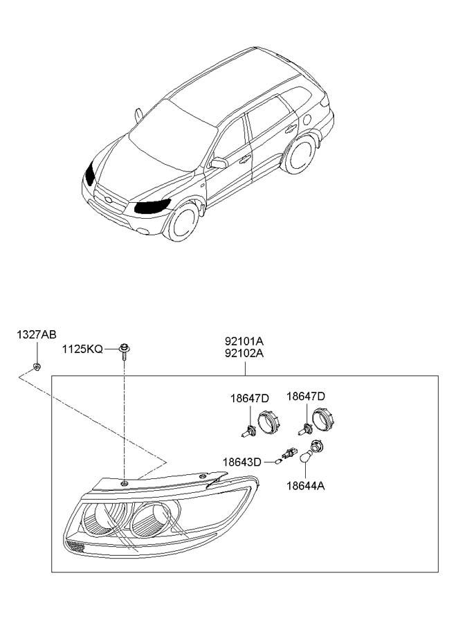 1864755007l Hyundai Bulb Halogen Beam Wxenon Xenon