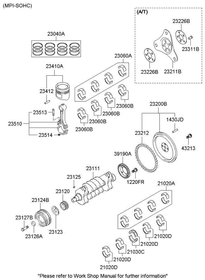 1999 Hyundai Accent Key - Crankshaft