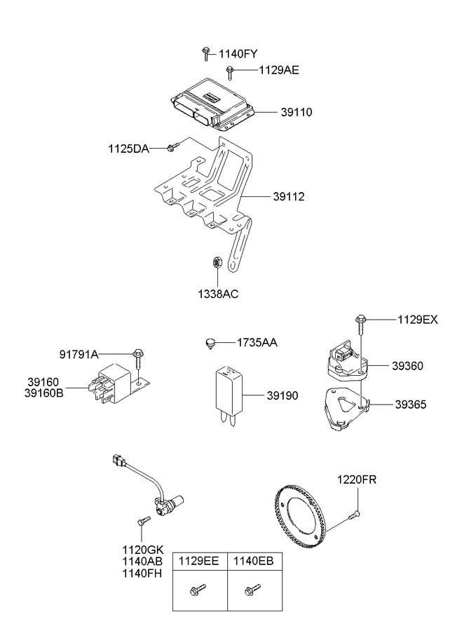 3919023000 - Hyundai Resistor  Diode  Bell  Chime