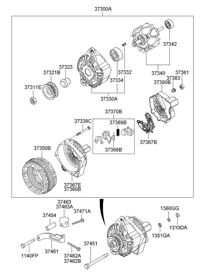 3737022650 - hyundai regulator assembly