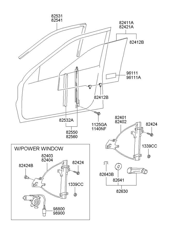 diagram 2000 hyundai accent door