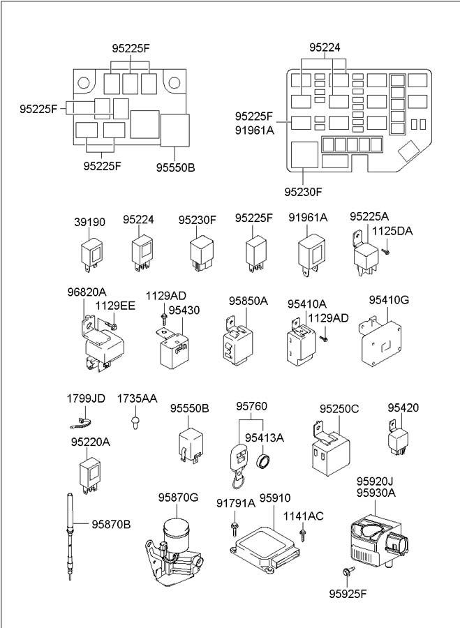 9555039000 Hyundai Flasher Module Turn Signal