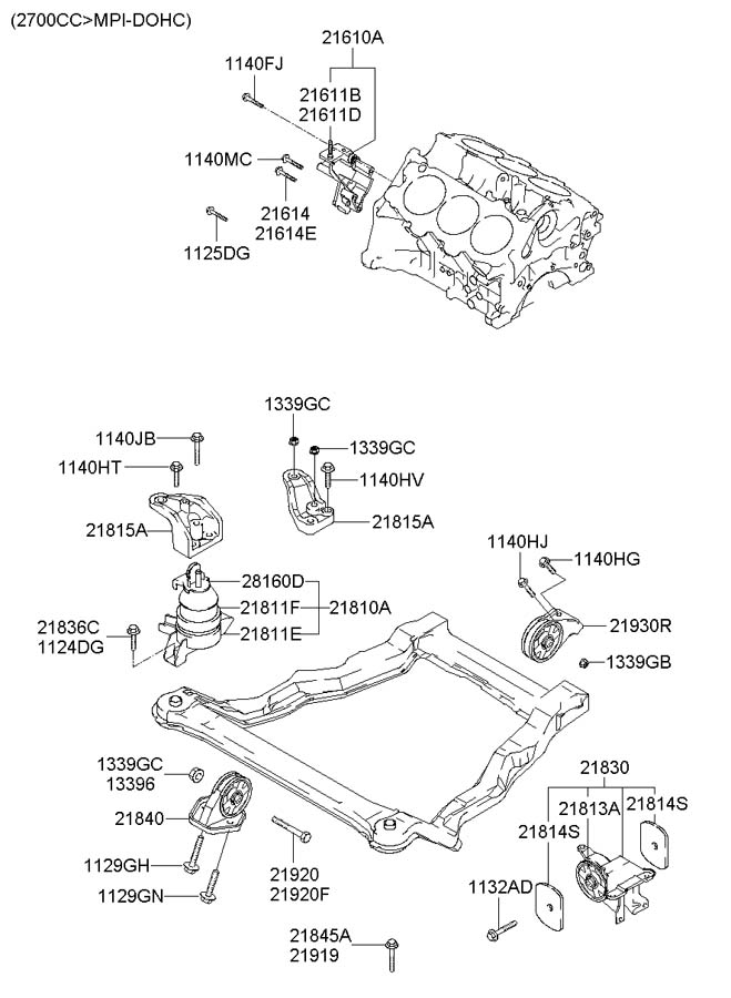 2162039002 - Hyundai Bracket Assembly