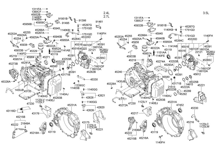 Hyundai Santa Fe Sensor Assembly - Input Speed