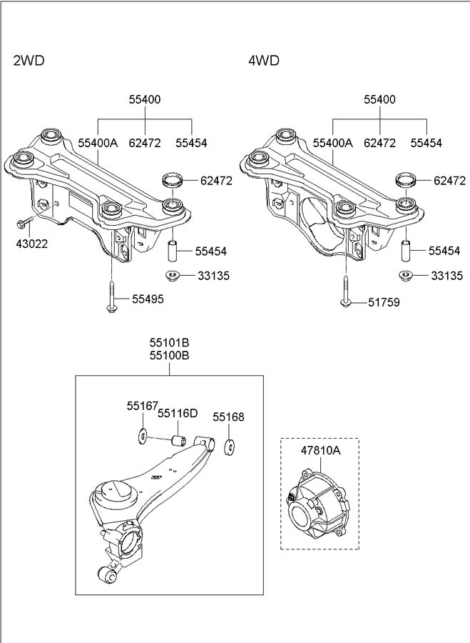 2002 hyundai santa fe rear suspension diagram