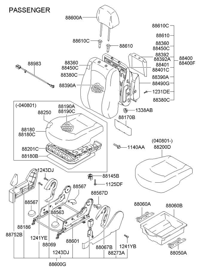 Hyundai Santa Fe Adjust Assembly