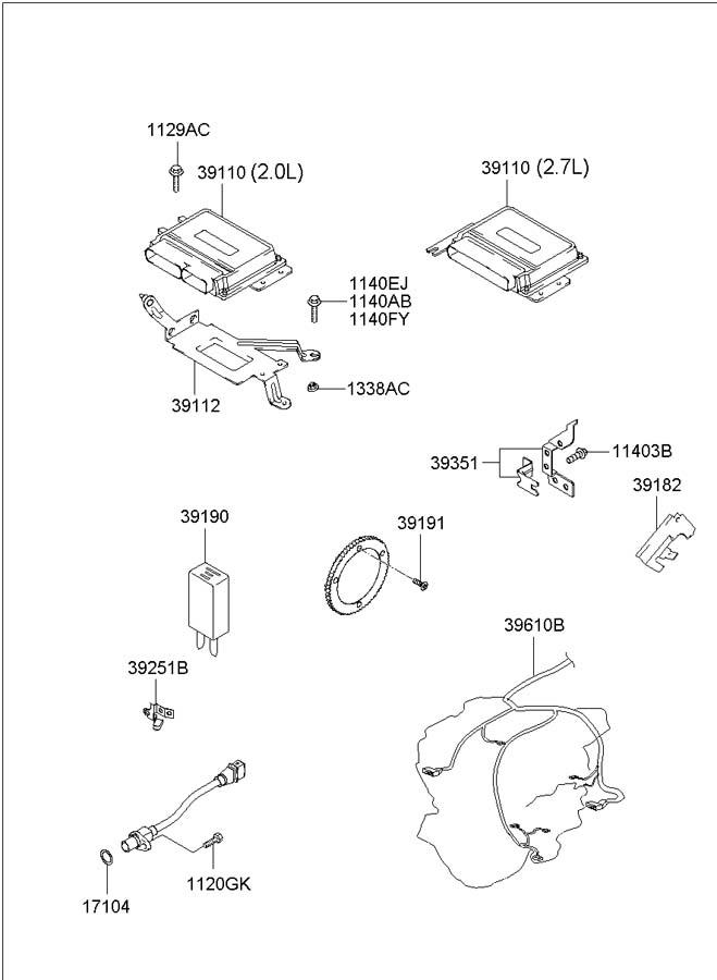 2001 hyundai tiburon parts catalog