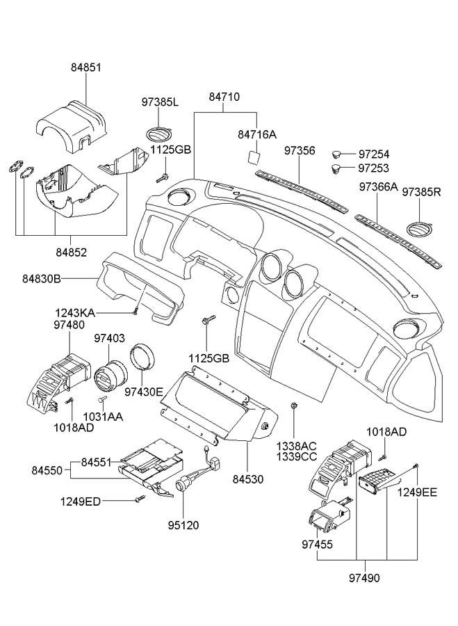 Hyundai Tiburon Switch Assembly