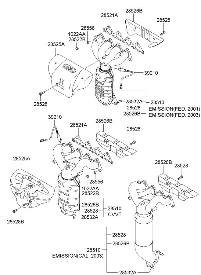 Hyundai Elantra Manifold Assembly