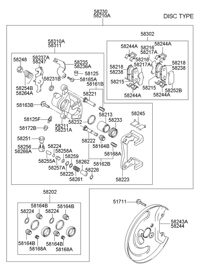 2005 hyundai elantra diagram showing brake line