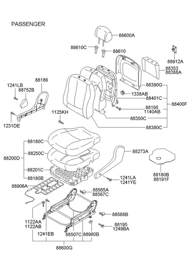 hyundai elantra p  p  d sensor assembly - front seat