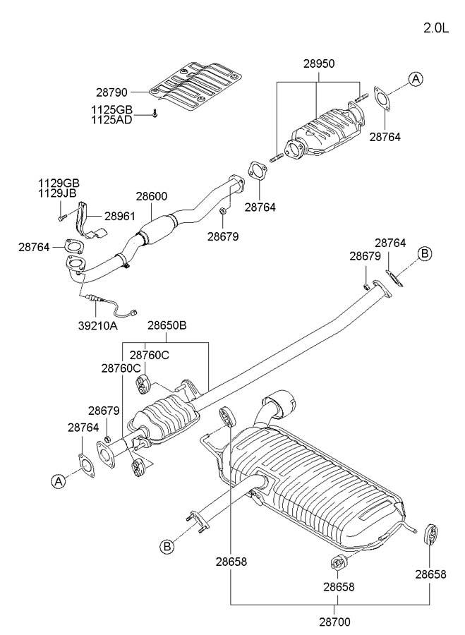 2008 Hyundai Elantra Parts Diagram