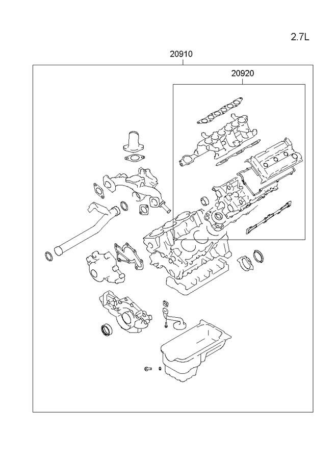 2003 Hyundai Sonata Gasket Kit