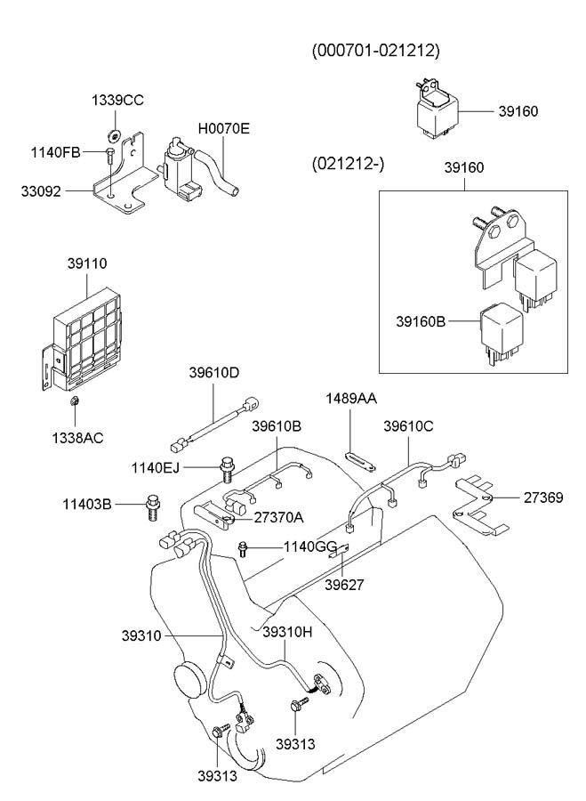 Hyundai Xg300  350 Wiring - Injector