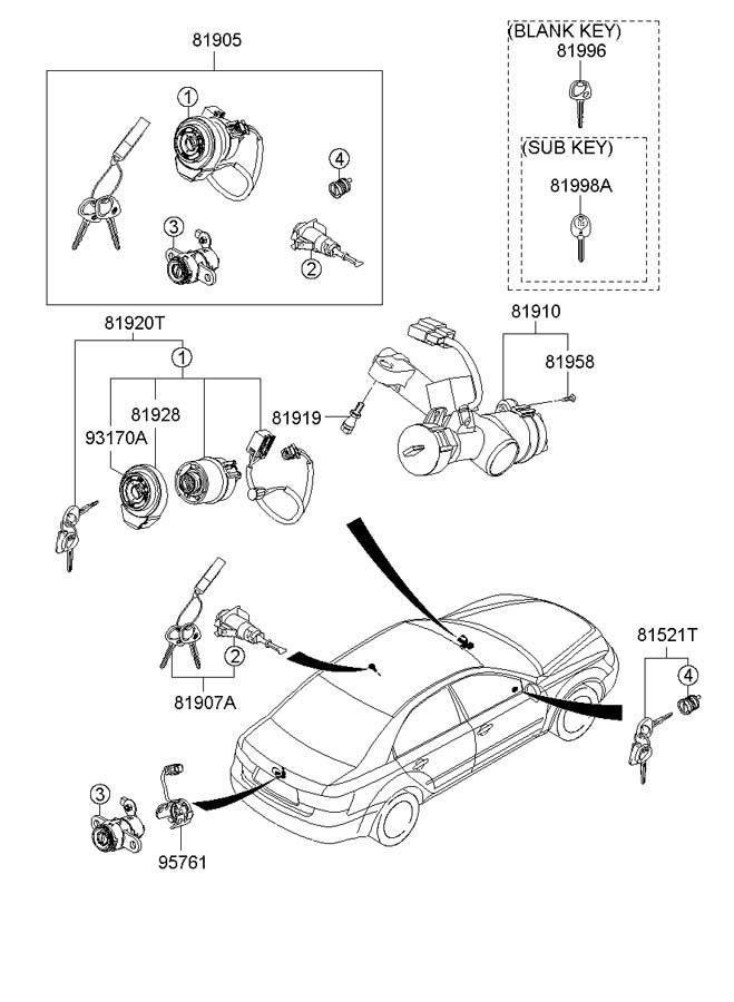 Hyundai Sonata Cylinder Assembly