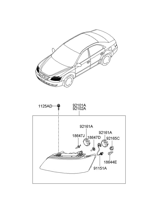921653k000 - hyundai socket  u0026 hldr assembly