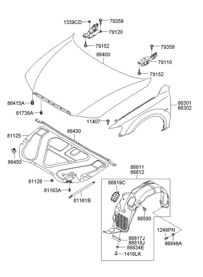 8641029000 - Hyundai Bumper
