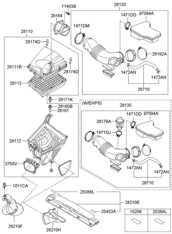 Hyundai Genesis Duct - Air