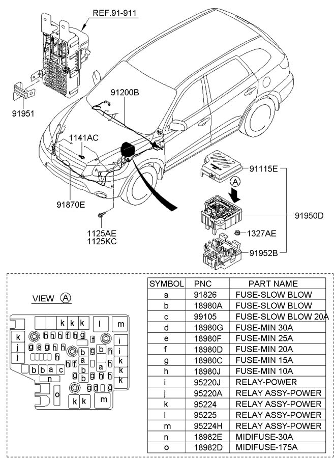 9522429850 - hyundai relay assembly