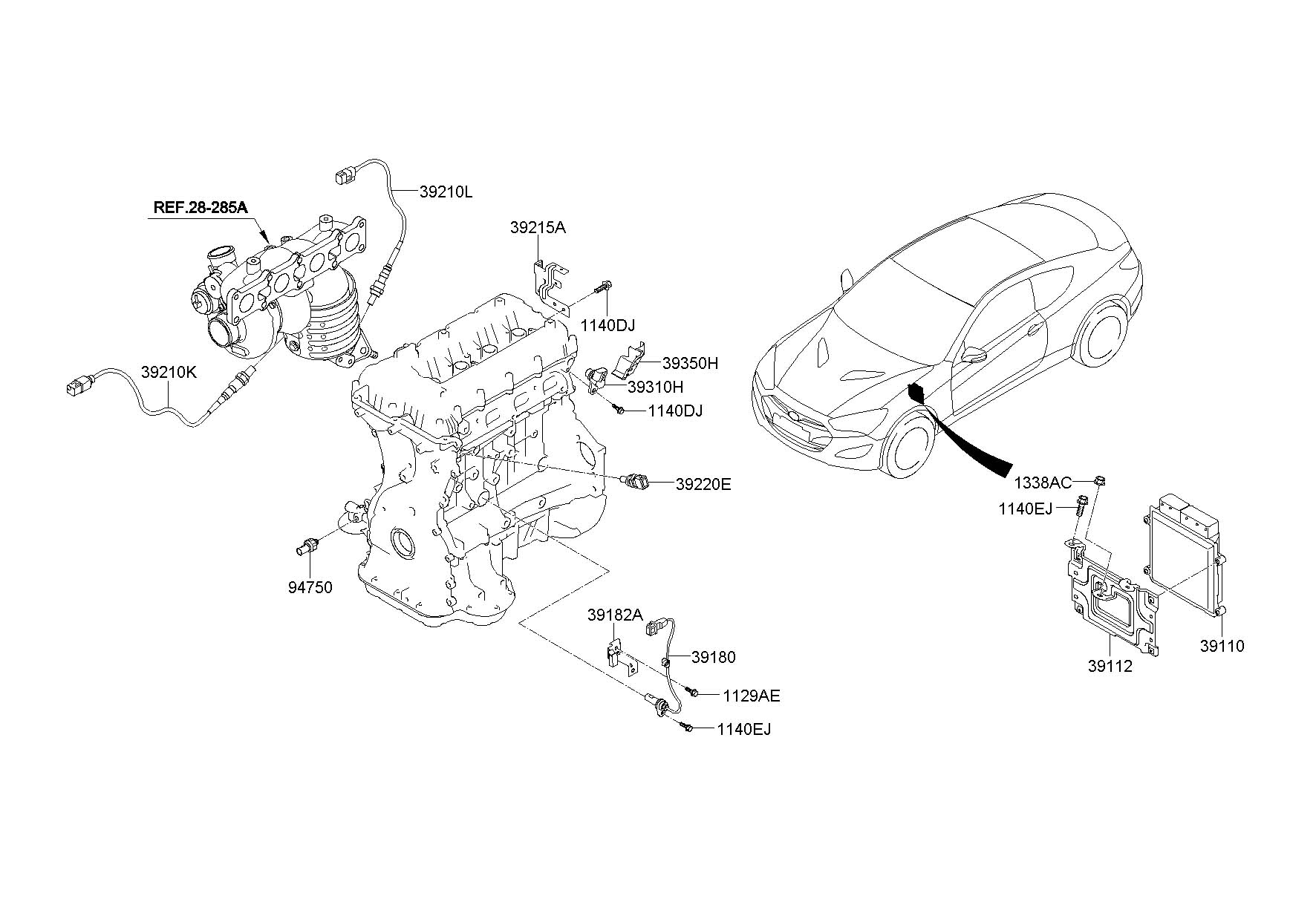 3935025010 Hyundai Sensor Camshaft Position Tcimpi