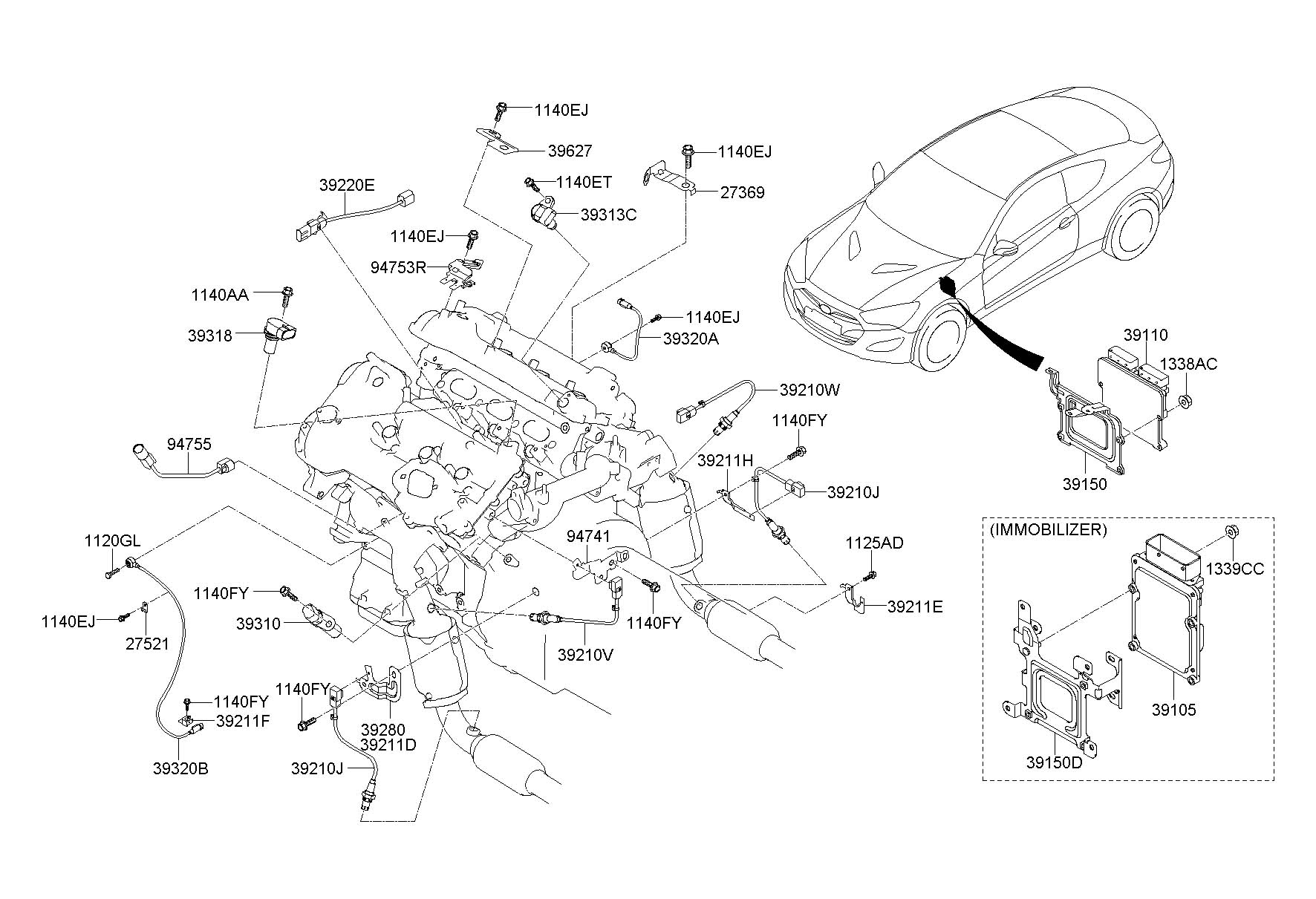 2015 hyundai genesis parts diagram html