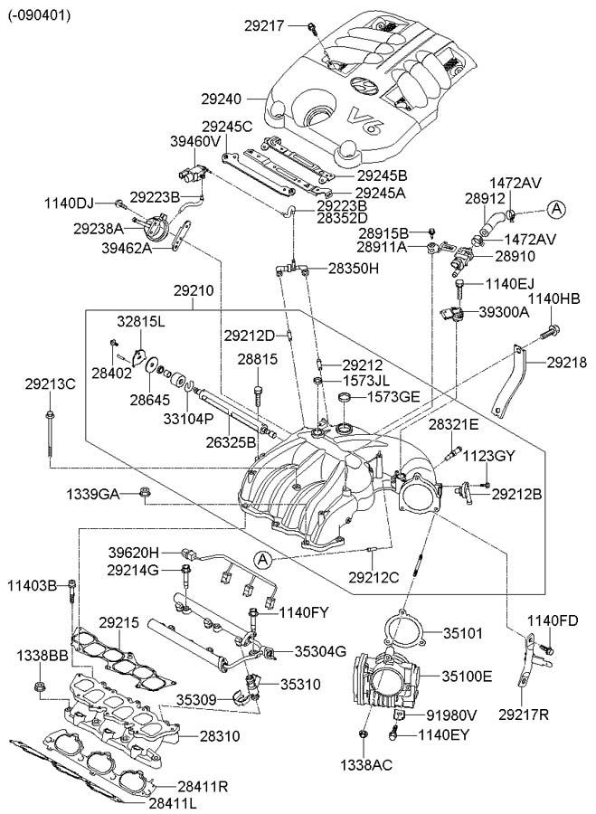 289103c100 - hyundai valve