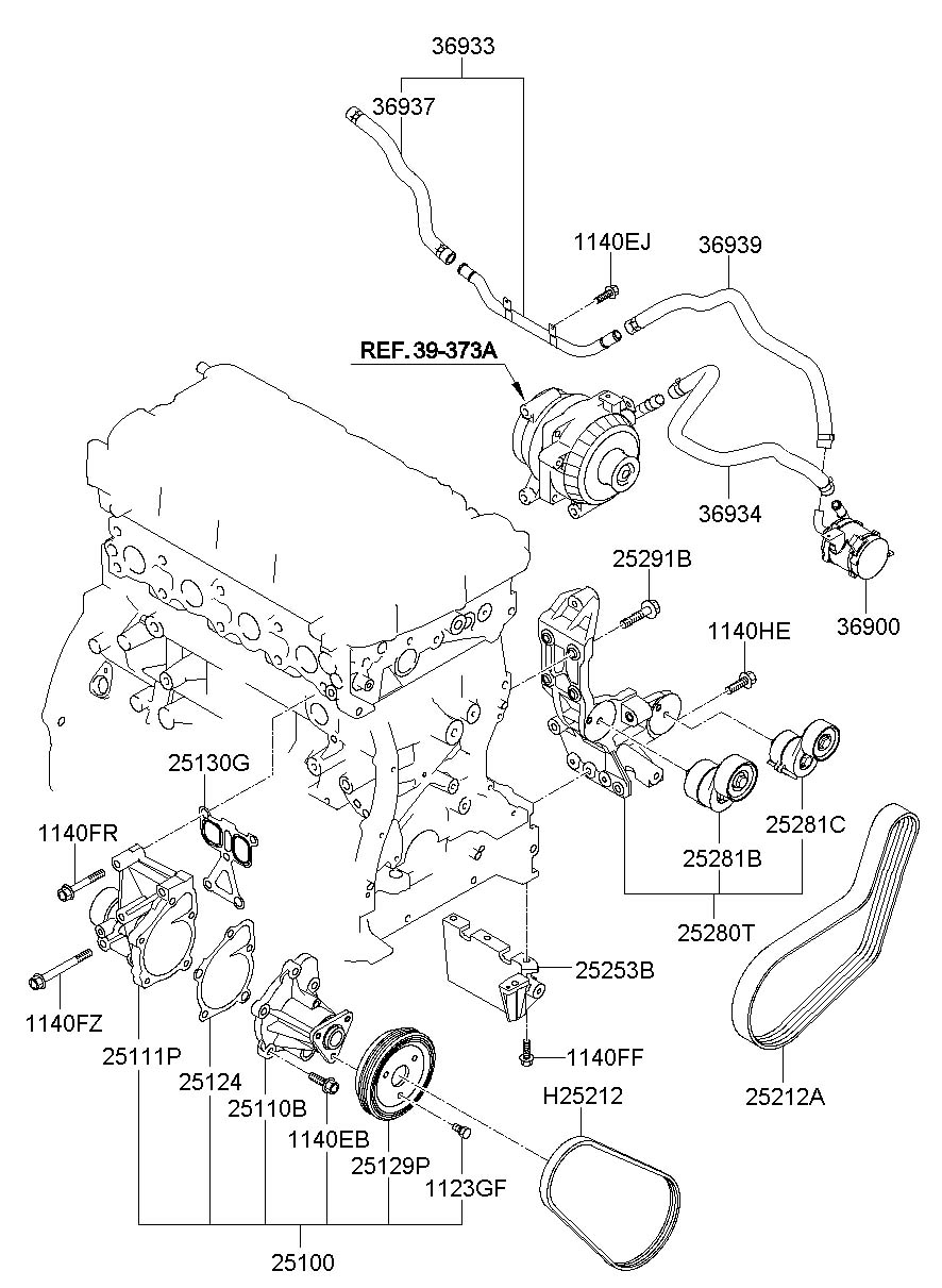 Hyundai Sonata Ewp Assembly
