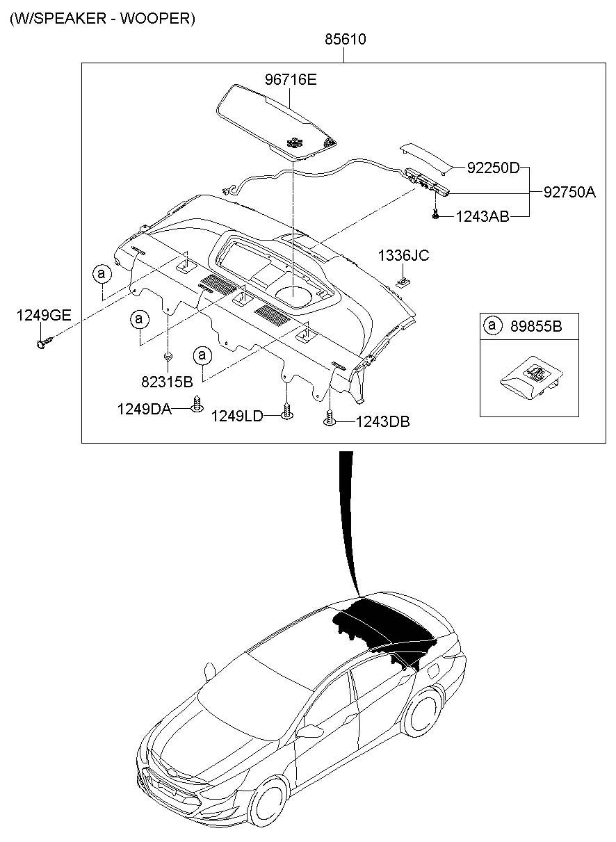 2011 Hyundai Sonata Lamp Assembly - Hms  Ptray  Mounted  Stop  Camel