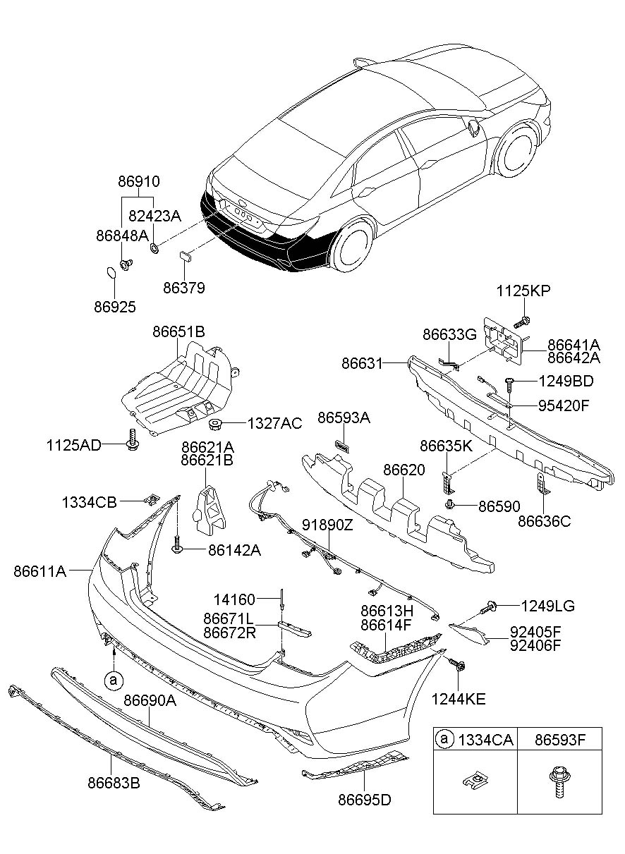 2011 Hyundai Sonata Rear Bumper