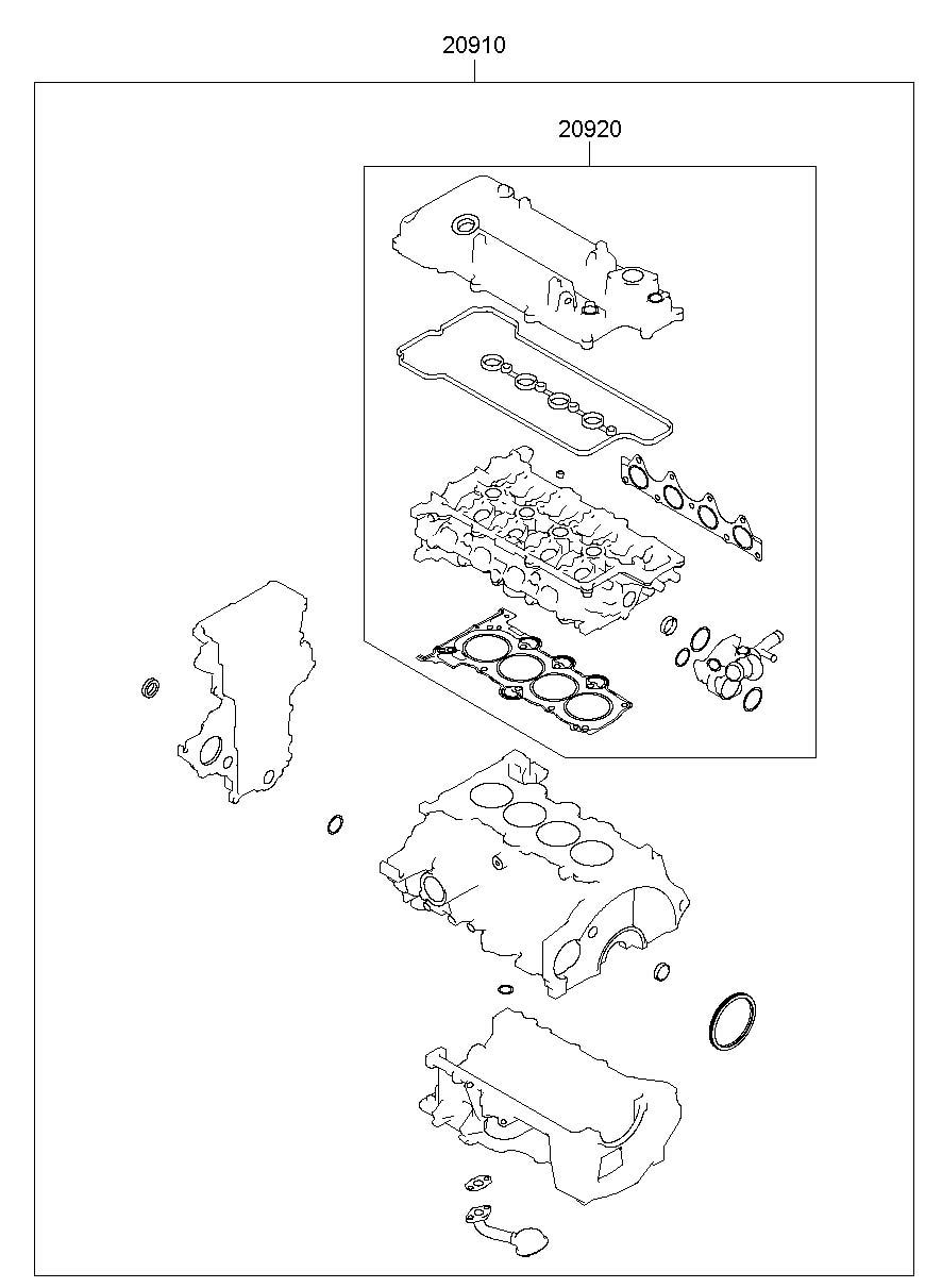 2013 Hyundai Veloster Gasket Kit