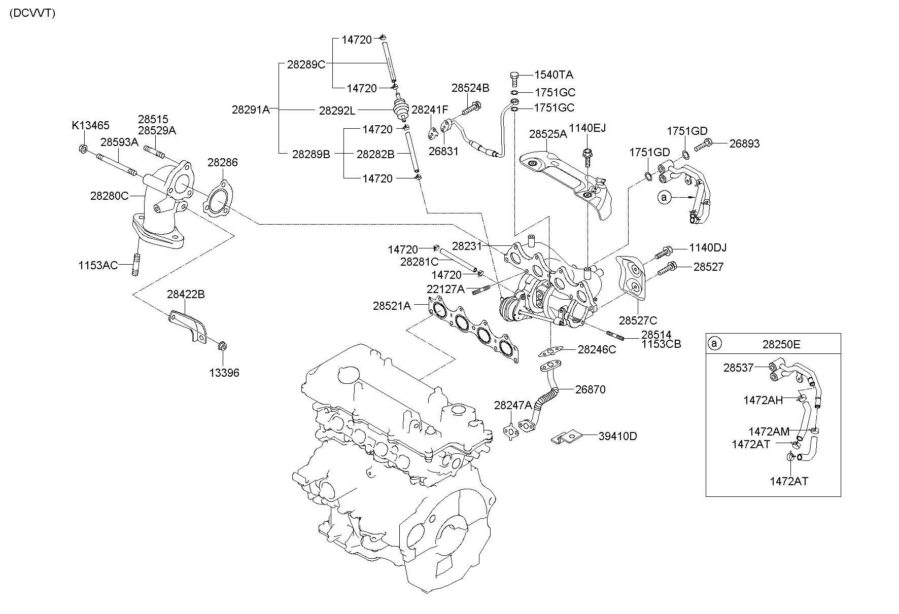 2013 Hyundai Veloster Turbocharger  Wturbocharger  Inclturbocharger  Inclexhaust